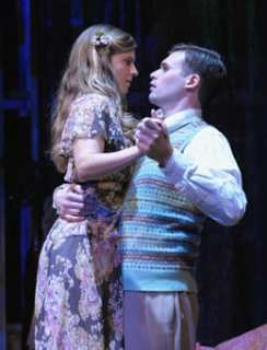 Matthew Schleigh as Jim and Sophie Hinderberger as Laura. (Photo by Stan Barouh)
