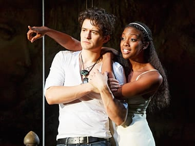 Orlando Bloom as Romeo and Condola Rashad as Juliet (Photo: Ryan Gilbert)