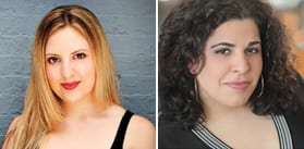 Sharon Kenny and Nadine Zahr (Photos: Signature Theatre Company)