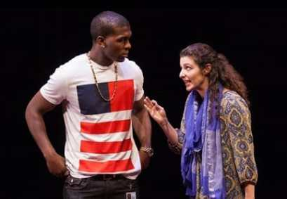 Khris Davis as Duke and Melis Aker as Roya  (Photo: Teresa Wood)