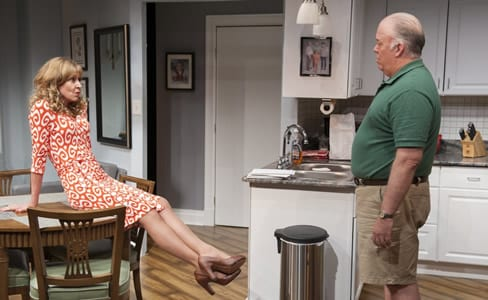 Suburban housewife Carly (Christine Lahti, left) touches base with her husband Louie (Wayne Duvall) (Photo: Margot Schulman)