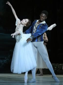 Maki Onuki as Giselle and Brooklyn Mack as Albrecht (Photo: Carol Pratt)