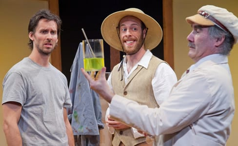 Christopher Herring as Patrick Stone, Ryan Tumulty as Vincent Van Gogh, and Lawrence Redmond as Dr. Gachet (Photo: C. Stanley Photography)