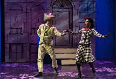 Kurt Boehm as Lyle and Brynn Tucker as Ms. Nitpicker (Photo: Margot Schulman)