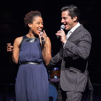 Eleasha Gamble and Nicholas Rodriguez performing in The Power of Two