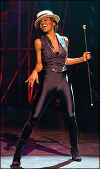 Patina Miller in her Tony Award winning performance in Pippin (Photo: Michael J. Lutch)