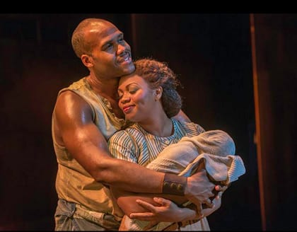 David Hughes and Sumayya Ali in national tour of Porgy and Bess (Photo: Michael J. Lutch)
