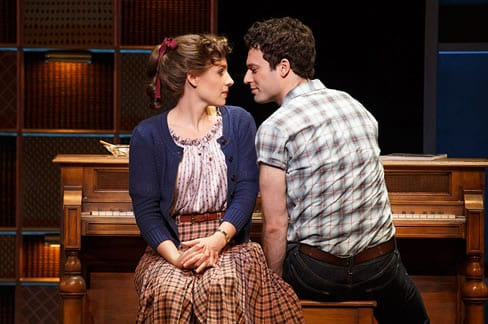 Jessie Mueller as Carole King and Jake Epstein as Gerry Goffen (Photo: Joan Marcus)