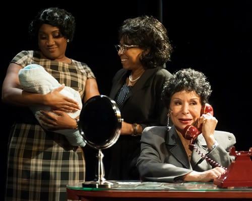 Roz White as Ella's cousin Georgiana, Wynonna Smith as Ella's younger sister Frances, and Freda Payne as Ella (Photo: Chris Banks)