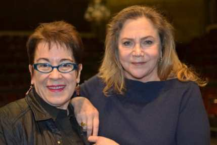 (l-r_ Molly Smith, director, and Kathleen Turner who plays Mother Courage