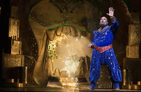 """worth the price of admission"" James Monroe Iglehart as the Genie (Photo: Deen Van Meer)"