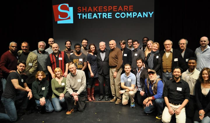 Henry IV, Parts 1 and 2 cast with director Michael Kahn at STC's Meet the Cast event (Photo: Elayna Speight)