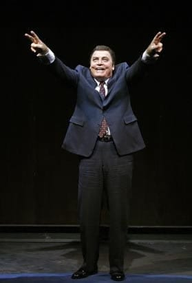 Stacy Keach as Richard Nixon in the 2009 National Tour of Frost/Nixon (Photo: Carol Rosegg)