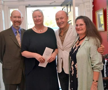 At the 2012 Washington Stage Guild Silver Gala: Bill Largess, Ann Norton and Laura G  with Victor Shargai of theatreWashington