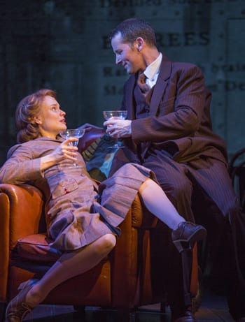 Hannah Yelland as Laura and Jim Sturgeon as Alec in Kneehigh's U.S. tour of Brief Encounter (Photo:  Jim Cox)