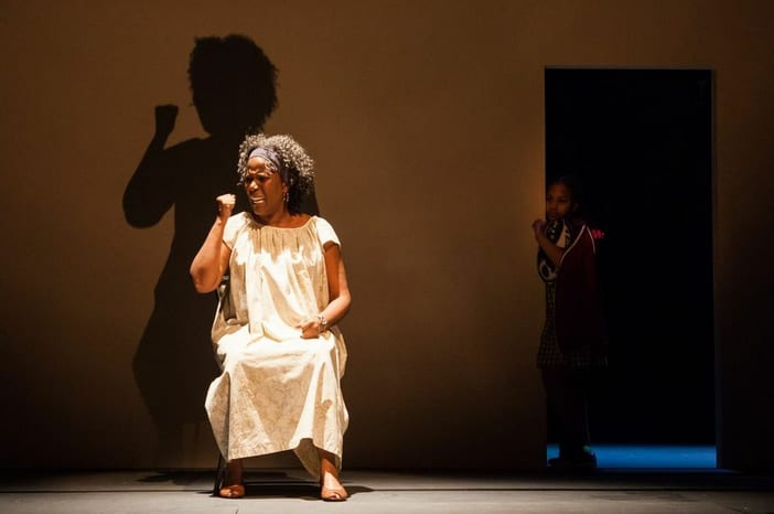 Cherene Snow with Sally Diallo in doorway (Photo: Bill Brymer)