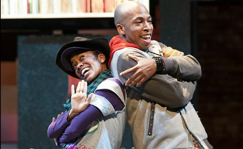 Paige Hernandez as Cinderella and Mark Hairston as Chocolate Ice (Photo: Margot Schulman)