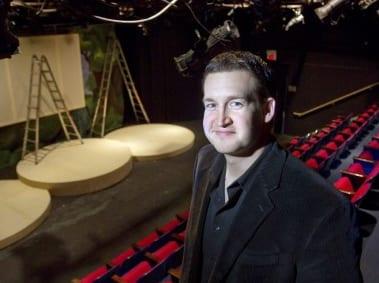 NextStop Artistic Director Evan Hoffman on the set of an earlier production (Photo: Shamus Ian Fatzinger)
