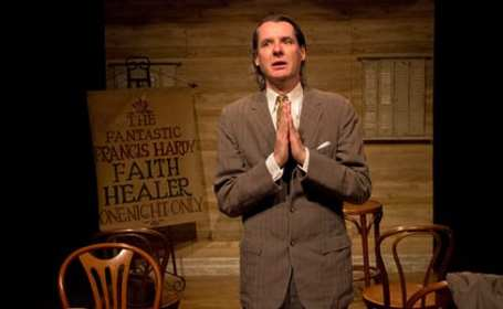 Christopher Henley as Frank in Quotidian Theatre's production of Faith Healer (Photo: St. Johnn Blondell)