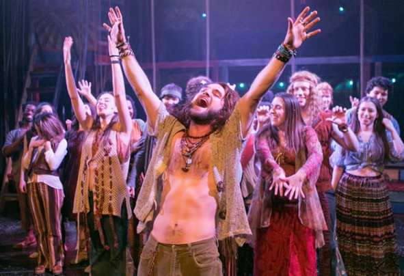 Josh Sticklin and the Keegan Theatre cast of Hair (Photo: C. Stanley Photography)