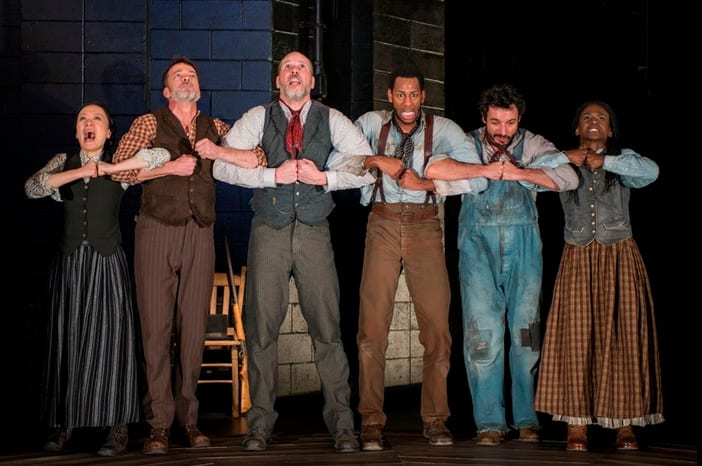 The SITI Company cast of Steel Hammer (Photo: Michael Brosilow)
