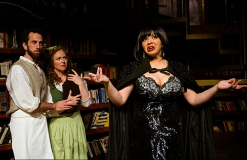 (l-r) John Loughney as The Bakeer, Katie McManus as The Baker's Wife and Priscilla Cuellar as The Witch (Photo: Traci J. Brooks Studios)