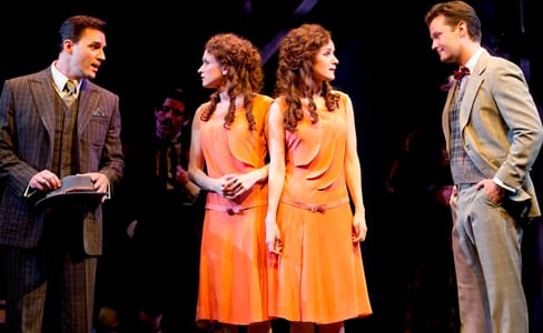 Ryan Silverman as Terry, Emily Padgett as Daisy, Erin Davie as Violet and Matthew Hydzik as Buddy (Photo: Joan Marcus)