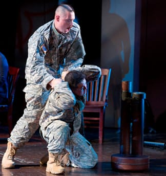 Trevor Scheunemann as Sgt. Marcum and Andrew Stenson as Danny Chen (photo: Scott Suchman)