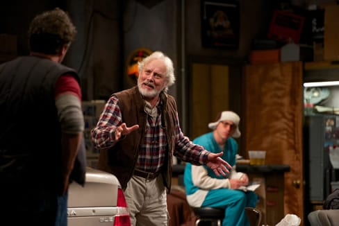"Michael Goodwin (l) as ""Zee"" and Jason Babinsky (r) as ""Larry""  (Photo by Seth Freeman)"