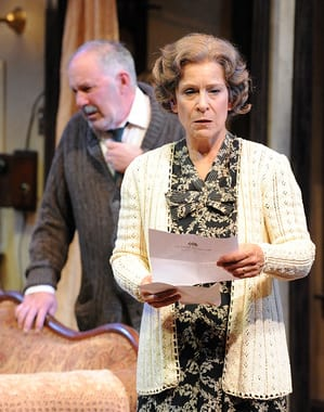 Rick Foucheux as Jacob and Naomi Jacobson as Bessie Berger (Photo: Stan Barouh)