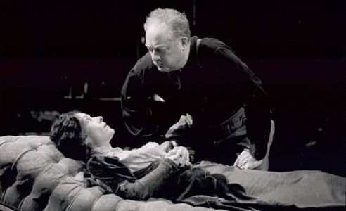 Tana Hicken as Alice, and Henry Strozier as Edgar, in the Arena Stage 1995 production of August Strindberg's Dance of Death. (Photo: Joan Marcus)