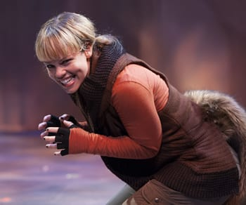 Erin Weaver as Skuggle the Squirrel (Photo: Margot Shulman)