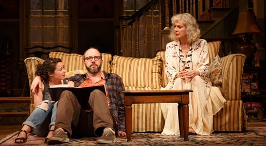 (l-r) Sarah Steele, Eric Lange and Blythe Danner (Photo: Joan Marcus)