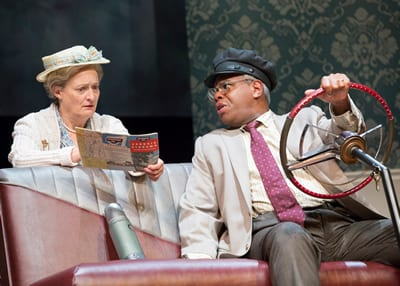 "Nancy Robinette as Daisy and Craig Wallace as Hoke in the Ford's Theatre production of ""Driving Miss Daisy,"" (Photo: Scott Suchman)"