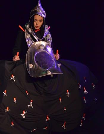 Juana Joan Estrella as Joan of Arc (Photo: Mauricio Cuevas)