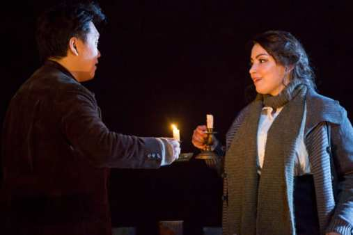 From the Domingo-Cafritz cast: Raquel Gonzalez as Mimi and Yi Li as Rodolfo. (Photo Scott Suchman)
