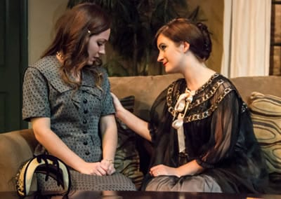 Sarah Ferris as Thea, Katie Culligan as Hedda. (Photo: St. Johnn Blondell)