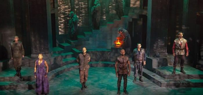 The cast of Julius Caesar (Photo: Jeff Malet)
