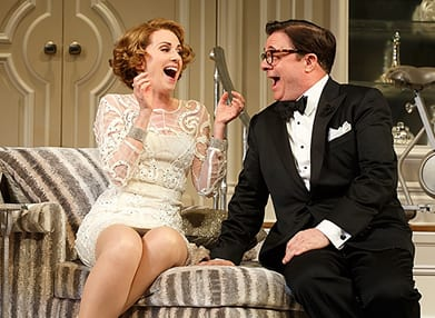 Megan Mullally as Julia Budder & Nathan Lane as James (Photo: Joan Marcus)