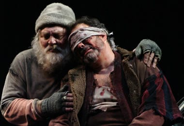 Stacy Keach as King Lear and Edward Gero as Gloucester in King Lear, Shakespeare Theatre, 2008