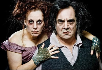 Sherri L. Edelen and Edward Gero, playing the title role, Sweeney Todd at Signature Theatre, 2010