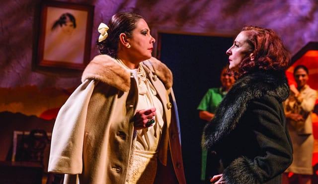 (l-r) Ana Verónica Muñoz and Luz Nicolás in Senorita y Madame at GALA Hispanic Theatre (Photo: Rose Campiglia)