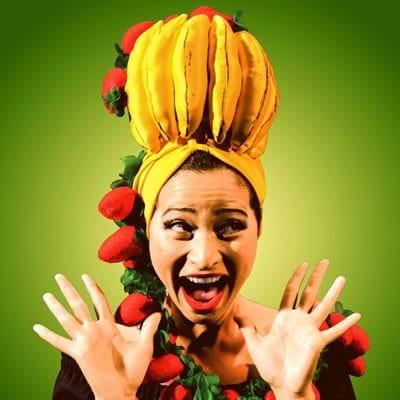 Sharalys Silva in Gimme a Band! Gimme a Banana! The Carmen Miranda Story (Photo: Navid Azeez)