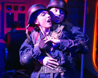 Sara Barker as Desdemona and Frank Britton as Iago (Photo: C. Stanley Photography)
