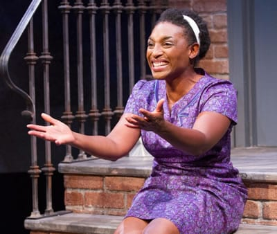 Dawn Ursula stars in Queens Girl in the World at Theater J (Photo: Teresa Wood) .