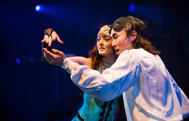 Irina Kavsadze as Juliet and Zana Gankhuyag as Romeo in Romeo and Juliet from Synetic Theater (Photo: Johnny Shryock)