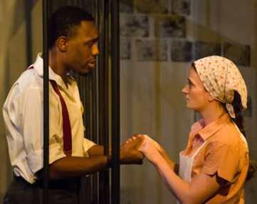Bru Ajueyitsi as The Young Gambler; Rachel Caywood as The Girl (Photo:  Johannes Markus )