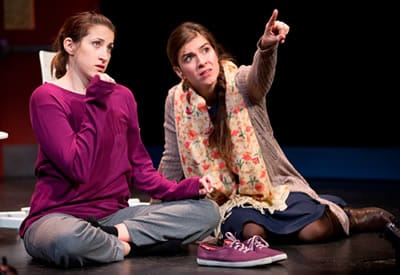 (l-r) Dylan Silver and Gabriela Fernandez-Coffee in Mockingbird (Photo: Scott Suchman)