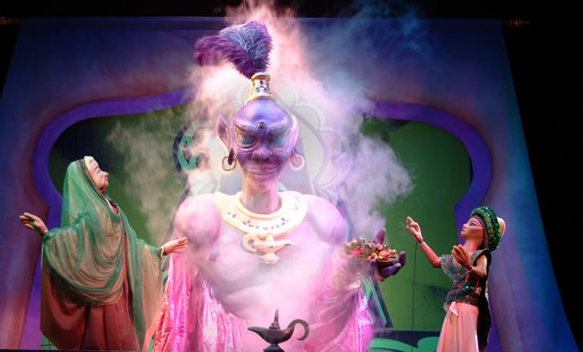 Aladdin and his mother discover the power of the magic lamp. (Photo: Christopher Piper)