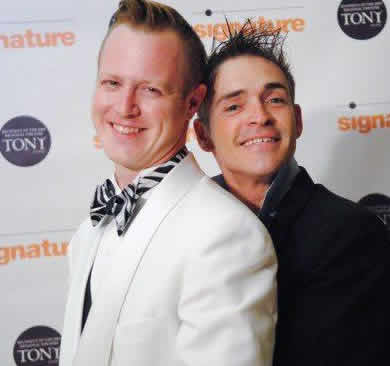 (l-r) Creators of  the new musical The Turn of the Screw: Stephen Gregory Smith and Matt Conner at Signature Theatre, 2012